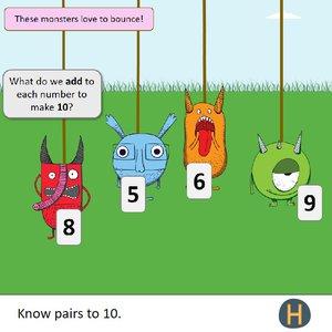 Y1 Addition number bonds monsters.jpg